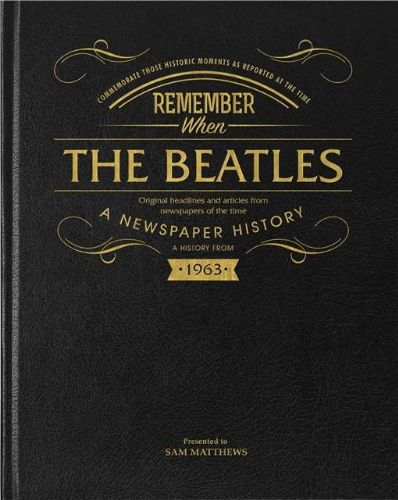 Personalised Beatles Newspaper Book